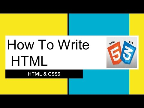 #3 How To Write HTML | Introduction To HTML | #HTMLCSS