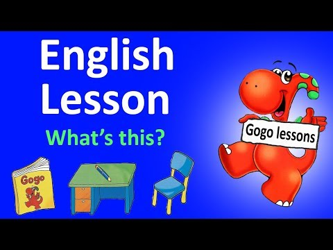 English Lesson 2 - What's this? School English. | Learn English for kids with Gogo.