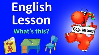 English Lesson 2 - What's this? School English | LEARN ENGLISH FOR KIDS