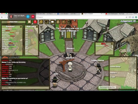 Town Of Salem All Any Gameplay MVP MAFIOSO + Stream With Friends