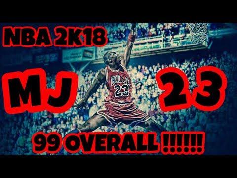 NBA 2K18 MICHAEL JORDAN PLAYER BUILD *OVERPOWERED* BEST 99 OVERALL