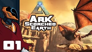 Let's Play Ark: Scorched Earth Expansion Pack Multiplayer - PC Gameplay Part 1 - Bodies Piled High