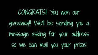 GIVEAWAY WINNER!!!