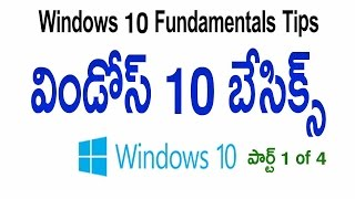Windows 10 in Telugu W10 Fundamentals Tips Part 1