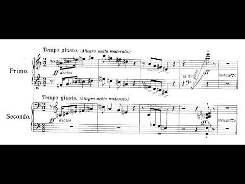 Alfredo Casella - Foxtrot for piano duo (audio + sheet music)