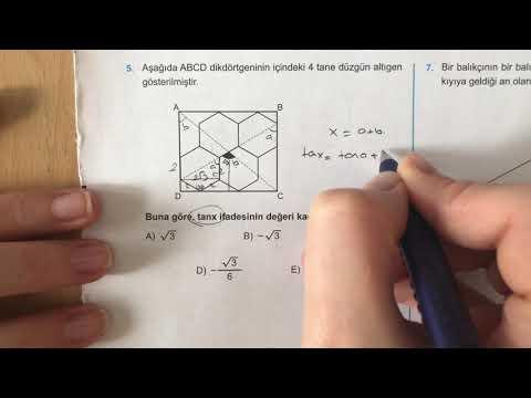 345 AYT Matematik Trigonometri-II Ösym Tadında-3 Anlatımlı Çözümleri (2018-2019 basım)