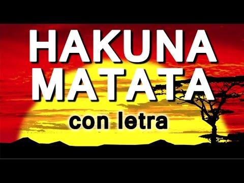 HAKUNA MATATA con letra en español Canciones Infantiles