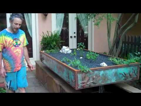 Aquaponic Garden Design Iron and Wood on existing pond YouTube