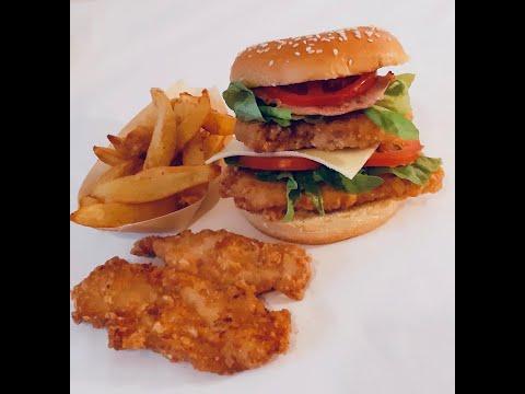 poulet-pané-façon-kfc-en-burger