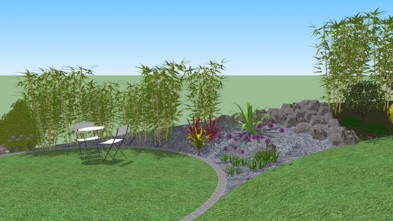 Jardin et piscine youtube for Jardin villa xavier