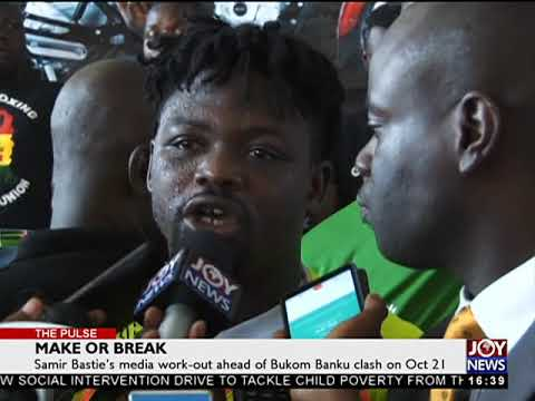 Samir Bastie's media work-out ahead of Bukom Banku clash out Oct 21