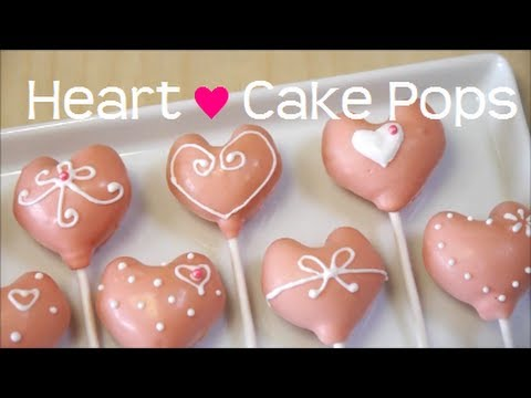 Heart Shaped Cake Pops Recipe