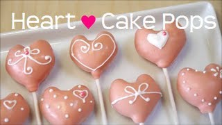 Cute heart-shaped cake pops using a silicon mold sold by Kai, decor...