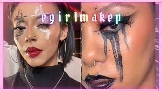 ☠BEST E-GIRL/ GOTH AESTHETIC MAKEUP LOOKS | TikTok compilation💀