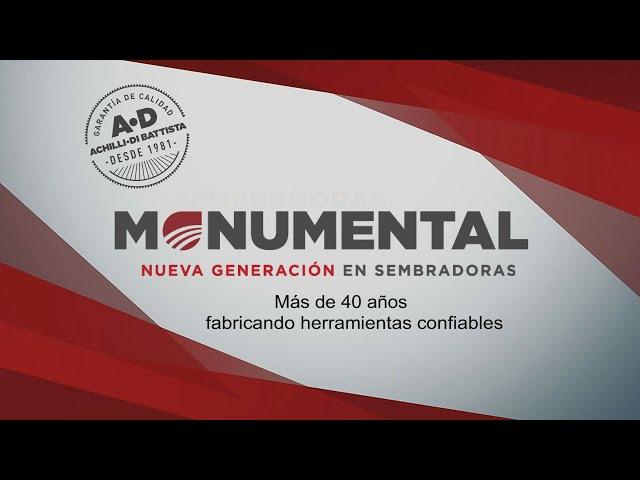 Sembradoras Monumental, Institucional 40 años ininterrumpidos de nuestra empresa.