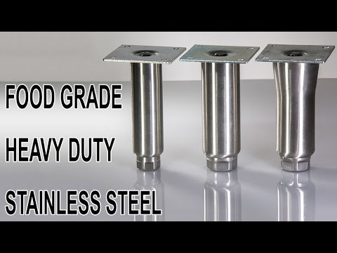 Stainless Steel Furniture Legs Commercial Use Food Grade YouTube - Food grade stainless steel table