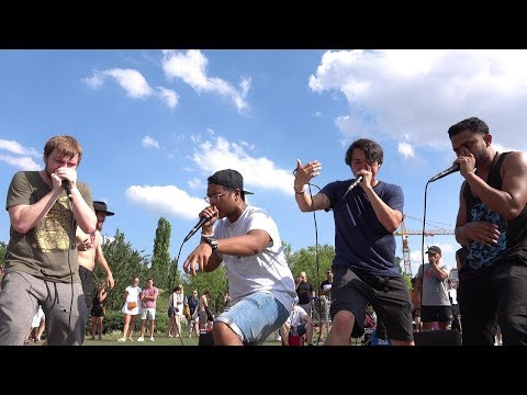 Street music in Mauer park Berlin (2018-07-29) - Beat Boxing (part 3) - filmed by Nora