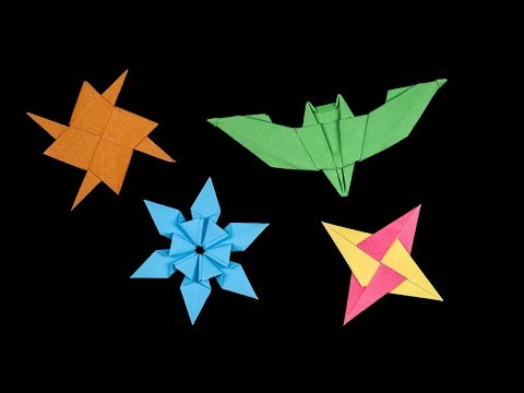04 New Easy Origami Ninja Star - How to make