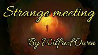 Strange Meeting by Wilfred Owen in Tamil