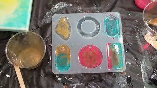 Resin Jewelry using Mica Powders and Acrylic Paint!