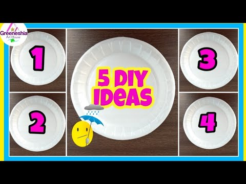 5Best out of waste paper plates crafts | Easy paper plate crafts for kids | Crafts for kids