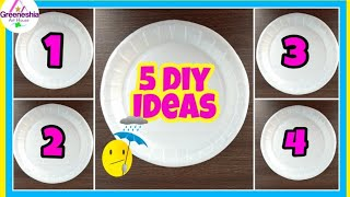 5Best out of waste paper plates crafts   Easy paper plate crafts for kids   Crafts for kids