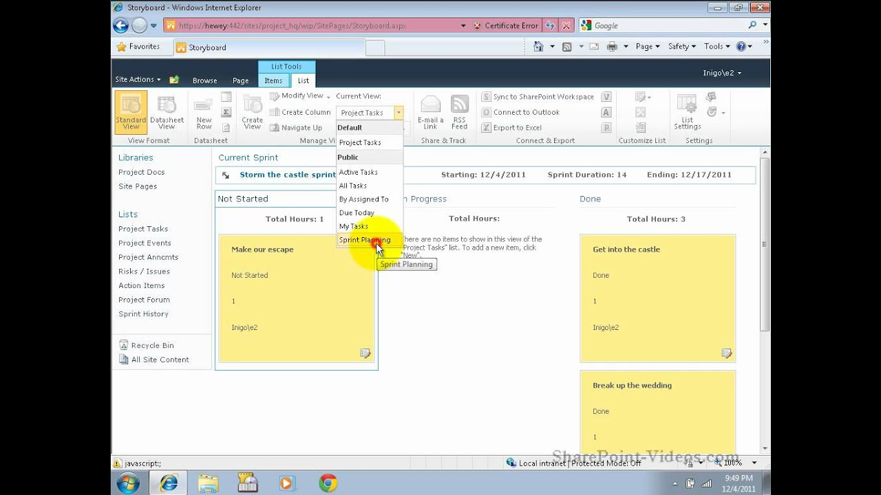 Project Management in SharePoint - Introduction and Overview