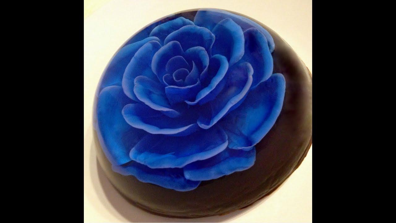 3d Gelatin Art Rose With Open Petal Youtube