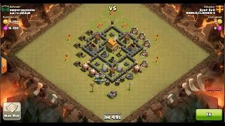 Clash of Clans TH6 vs TH5 Giant & Archer Clan War 3 Star Attack