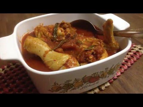 Asam Pedas Ayam Daun Kesom Johor