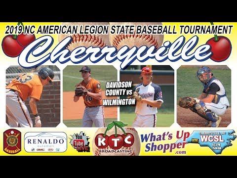 Davidson County Vs Wilmington - NC American Legion Baseball Tournament