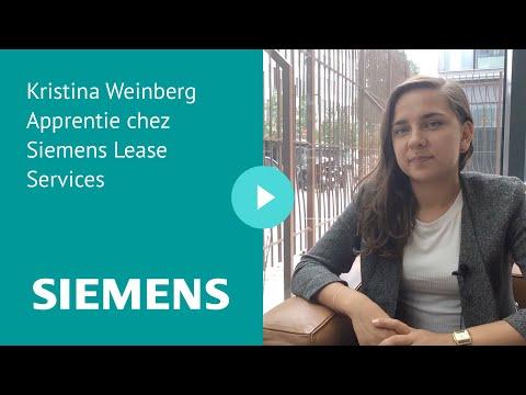 Kristina Weinberg Apprentie chez Siemens Lease Services