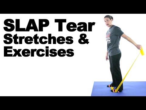SLAP Tear Stretches & Exercises for Shoulder - Ask Doctor Jo