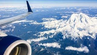 STUNNING MOUNT RAINIER VIEWS | Delta 737-800 Takeoff from Seattle