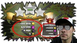 1,7 Mio Loot   100% ZERSTÖRT [Clash of Clans ] DEUTSCH