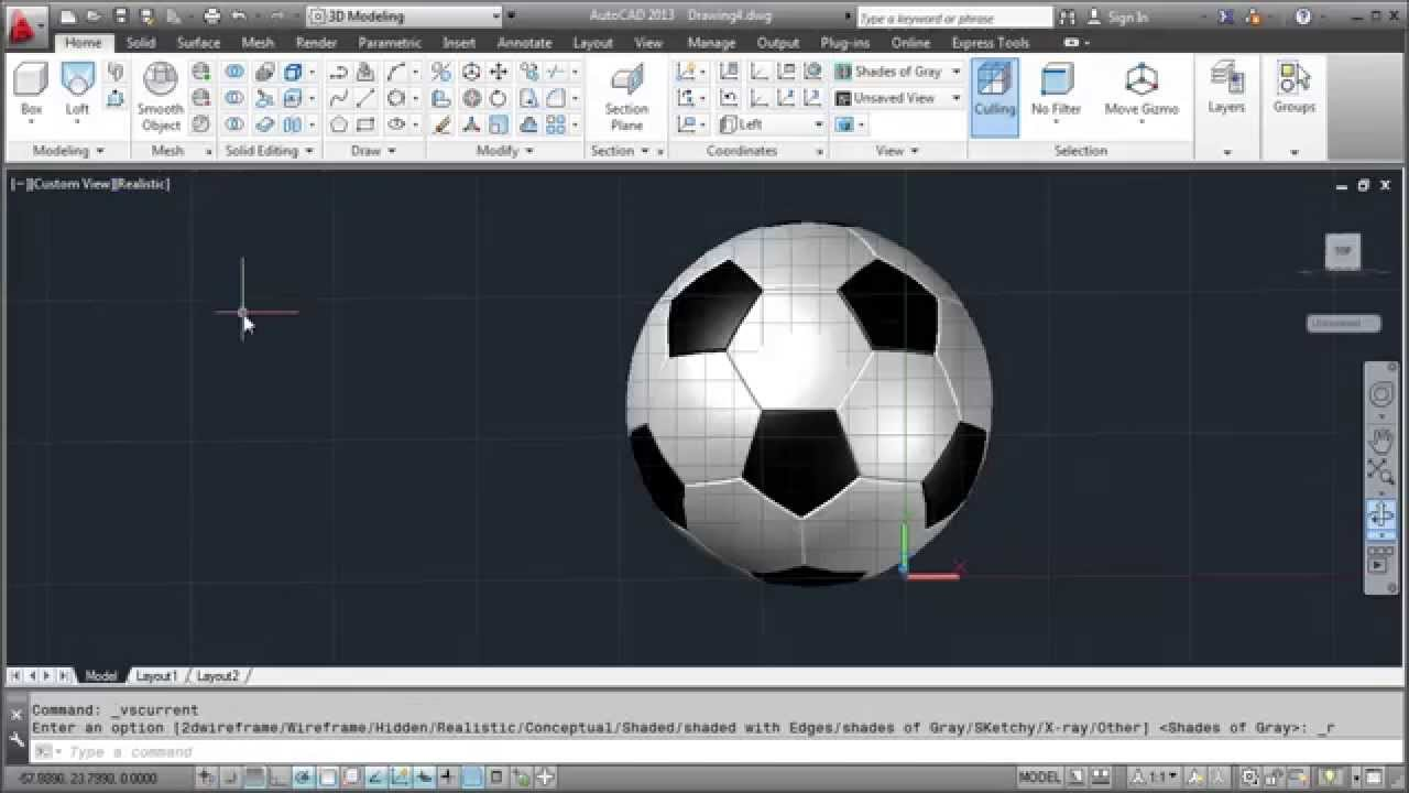 Cad cam analysis of football