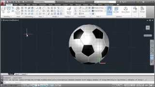 AutoCAD 3D Soccer Ball Modeling Tutorial