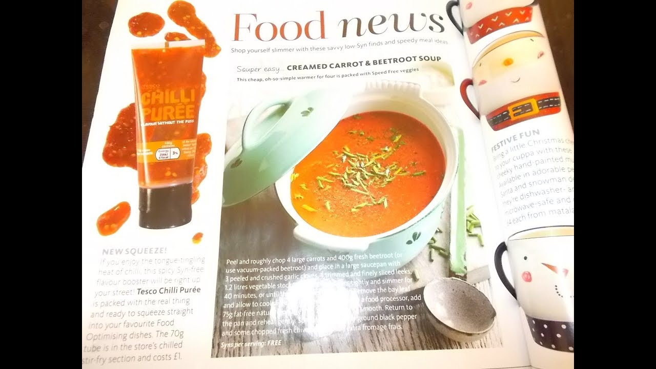 Slimming World Creamed Carrot Beetroot Soup Free