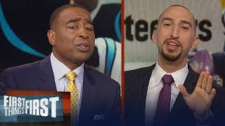Nick and Cris look ahead to Panthers vs. Steelers TNF's matchup on FOX | NFL | FIRST THINGS FIRST
