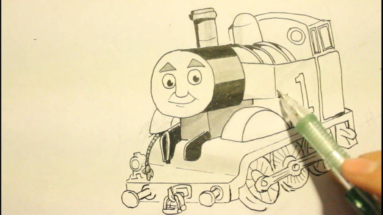 How To Draw Thomas The Tank Engine|From Thomas And Friends ...