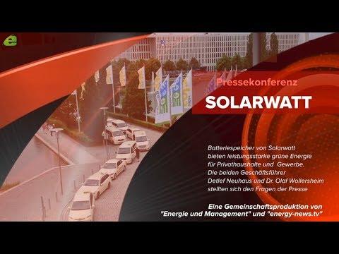 SOLARWATT Pressekonferenz auf der EES/Intersolar  - E&M TV LIVE -- der Speichermarkt ist in Bewegung