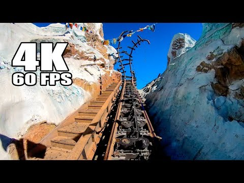 4K 60FPS Expedition Everest Roller Coaster Multi Angle POV Walt Disney World Animal Kingdom Ultra HD