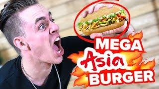 MEGA Asia Burger ! 😍Burger Experiment || Flowest