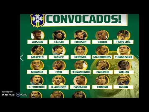 La liste des 23 du brésil pour la coupe du monde 2018