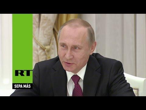 Putin bromea con Kerry durante las negociaciones en Moscú