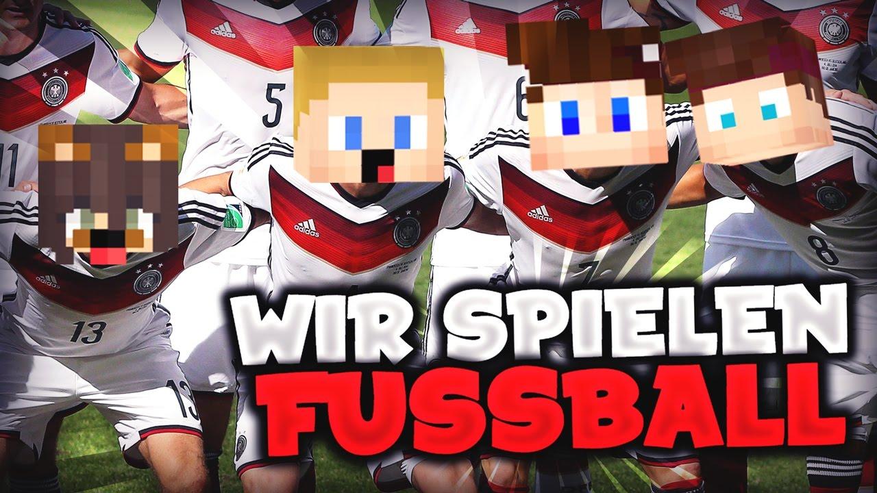 WIR SPIELEN FUSSBALL IN MINECRAFT YouTube - Minecraft fubball spielen deutsch