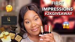 FIRST IMPRESSIONS | UNISEX FRAGRANCES | 2K GIVEAWAY ANNOUNCEMENT | PERFUME COLLECTION 2020