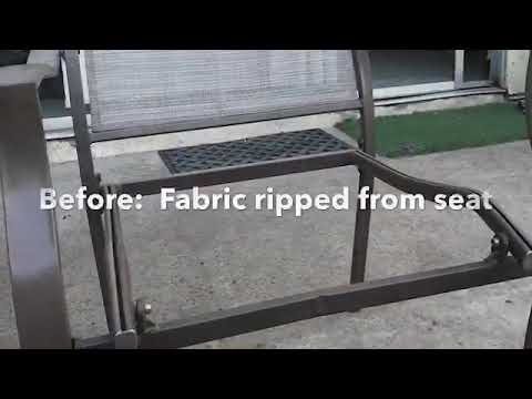 Repair patio chair for less than $ 10.  DIY