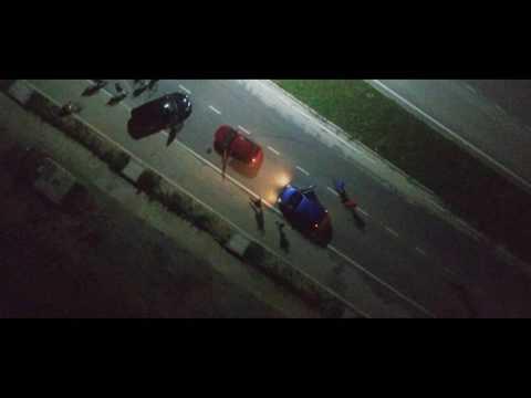 Car Drift Chase Scene Cyberjaya - Drone Shot