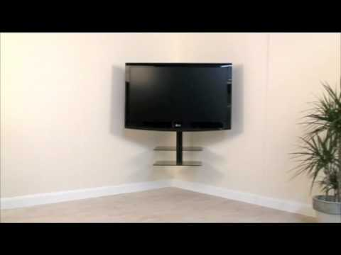 avf cornermount the all in one corner solution for your tv and av accessories youtube. Black Bedroom Furniture Sets. Home Design Ideas